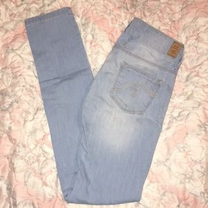 MANGO MNG Jeans Light Blue Denim US Sz 2 EUR 34
